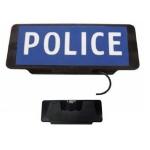 Napellenzőre rögzíthető LED-es POLICE tábla